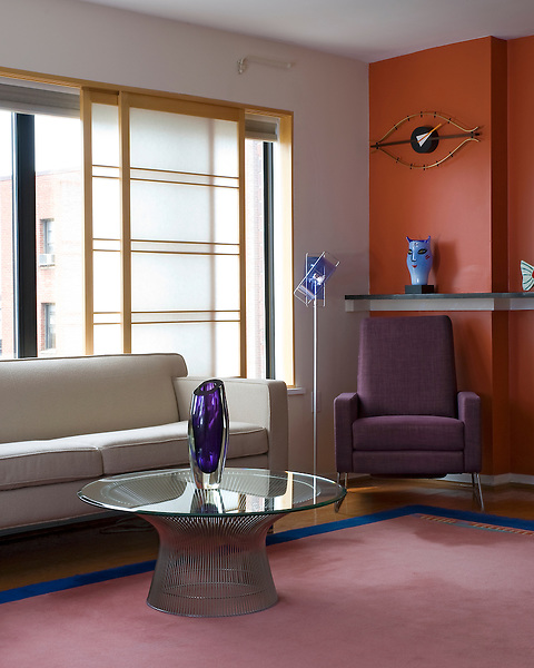 Modern DC Condo Living Room