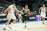 Zalgiris Kaunas´s Ulanovas during Euroleague basketball match in Madrid, Spain. October 17, 2014. (ALTERPHOTOS/Victor Blanco)