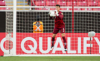 ZAPOPAN, MEXICO - MARCH 21: JT Marcinkowski #1 of the United States makes a save during a game between Dominican Republic and USMNT U-23 at Estadio Akron on March 21, 2021 in Zapopan, Mexico.