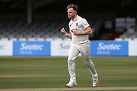 Sam Cook of Essex celebrates taking the wicket of Alex Lees during Essex CCC vs Durham CCC, LV Insurance County Championship Group 1 Cricket at The Cloudfm County Ground on 15th April 2021