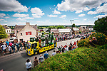 The publicity caravan before Stage 2 of the 2021 Tour de France, running 183.5km from Perros-Guirec to Mur-de-Bretagne Guerledan, France. 27th June 2021.  <br /> Picture: A.S.O./Aurelien Vialatte   Cyclefile<br /> <br /> All photos usage must carry mandatory copyright credit (© Cyclefile   A.S.O./Aurelien Vialatte)
