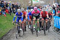 up the Oude Kwaremont<br /> <br /> 102nd Ronde van Vlaanderen 2018 (1.UWT)<br /> Antwerpen - Oudenaarde (BEL): 265km