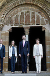 Princes Felipe and Letizia of Spain with the President of Navarra Yolanda Barcina attend the tribute to the King of Navarre .June 06,2013. (ALTERPHOTOS/Acero)