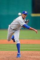 Daytona Cubs pitcher Starling Peralta #35 during a game against the Brevard County Manatees at Spacecoast Stadium on April 5, 2013 in Viera, Florida.  Daytona defeated Brevard County 8-0.  (Mike Janes/Four Seam Images)