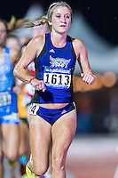 Taylor Ward of Weber State competes in 10000 meter semifinal during West Preliminary Track & Field Championships at John McDonnell Field, Thursday, May 29, 2014 in Fayetteville, Ark. (Mo Khursheed/TFV Media via AP Images)