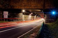 Wilson Tunnel at night, Likelike Highway, Honolulu, O'ahu
