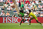 South Africa vs Australia during the HSBC Sevens Wold Series Cup Quarter Finals match as part of the Cathay Pacific / HSBC Hong Kong Sevens at the Hong Kong Stadium on 29 March 2015 in Hong Kong, China. Photo by Xaume Olleros / Power Sport Images