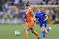 Houston, TX - Sunday Sept. 25, 2016: Amber Brooks during a regular season National Women's Soccer League (NWSL) match between the Houston Dash and the Seattle Reign FC at BBVA Compass Stadium.