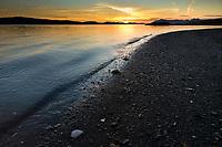 Sunset along the shores of Revillagigedo Island, near Ketchikan, along the Tongass Narrows, southeast, Alaska.