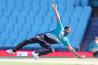 13th March 2020, Sydney Cricket Ground, Sydney, Australia;  Ish Sodhi of the Blackcaps fielding off his own bowling. International One Day Cricket. Australia versus New Zealand Blackcaps, Chappell–Hadlee Trophy, Game 1.