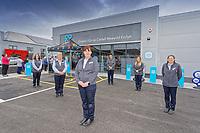 (L-R)  Caryl Griffiths, Margaret Jones, store manager Nicola Mangan, Lynne Riddel Cooper, Celyn Jones and Sui Howes.