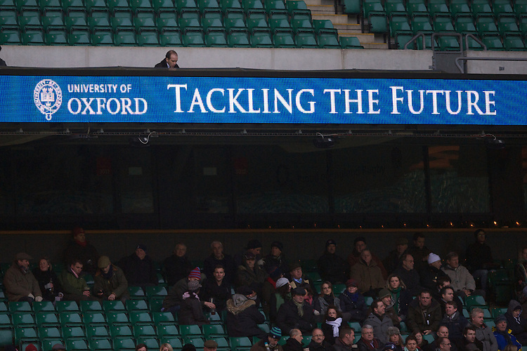Oxford University signage during the 131st Varsity Match between Oxford University and Cambridge University at Twickenham on Thursday 06 December 2012 (Photo by Rob Munro)