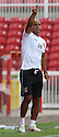 Stevenage assistant manager Dino Maamria<br />  Swindon Town v Stevenage - Sky Bet League One- The County Ground, Swindon - 10th August 2013<br /> © Kevin Coleman 2013