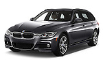 2016 BMW 3-Series 328i-xDrive-Sports-Wagon 5 Door Wagon Angular Front stock photos of front three quarter view