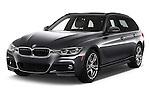 2016 BMW 3-Series 328i-xDrive-Sports-Wagon 5 Door Wagon Angular Front stock photos of front three quarter view
