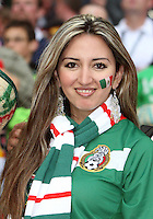 Mexican fan before the game. Mexico and Angola played to a 0-0 tie in their FIFA World Cup Group D match at FIFA World Cup Stadium, Hanover, Germany, June 16, 2006.