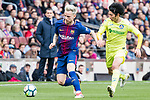 Ivan Rakitic of FC Barcelona (L) fights for the ball with Gaku Shibasaki of Getafe CF (R) during the La Liga 2017-18 match between FC Barcelona and Getafe FC at Camp Nou on 11 February 2018 in Barcelona, Spain. Photo by Vicens Gimenez / Power Sport Images
