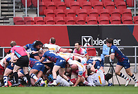 27th March 2021; Ashton Gate Stadium, Bristol, England; Premiership Rugby Union, Bristol Bears versus Harlequins; in the last play of the match the Bristol Bears maul drives towards Harlequins' try line to score the winning points