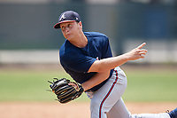 Atlanta Braves pitcher Cutter Dyals (83) during a Minor League Extended Spring Training game against the Philadelphia Phillies on April 20, 2018 at Carpenter Complex in Clearwater, Florida.  (Mike Janes/Four Seam Images)