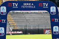 Women Serie A banner is seen during the women Serie A football match between AS Roma and ACF Fiorentina at Tre Fontane Stadium in Roma (Italy), November 7th, 2020. Photo Andrea Staccioli / Insidefoto