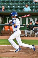 Brendon Davis (35) of the Ogden Raptors at bat against the Grand Junction Rockies in Pioneer League action at Lindquist Field on September 3, 2015 in Ogden, Utah. Grand Junction defeated Ogden 16-8. (Stephen Smith/Four Seam Images)