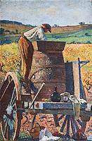 Europe/Europe/France/Midi-Pyrénées/46/Lot/Cahors: Peintures de l'escalier de la Préfecture : L'escalier est décoré aujourd'hui d'une série de 5 grands tableaux marouflés du peintre symboliste Henri Martin (Toulouse 1860 – La Bastide-du-Vert 1943) représentant le travail de la vigne.<br />  [Non destiné à un usage publicitaire - Not intended for an advertising use]
