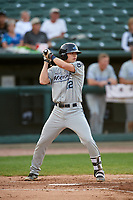 West Michigan Whitecaps second baseman Will Savage (12) at bat during a game against the Peoria Chiefs on May 9, 2017 at Dozer Park in Peoria, Illinois.  Peoria defeated West Michigan 3-1.  (Mike Janes/Four Seam Images)