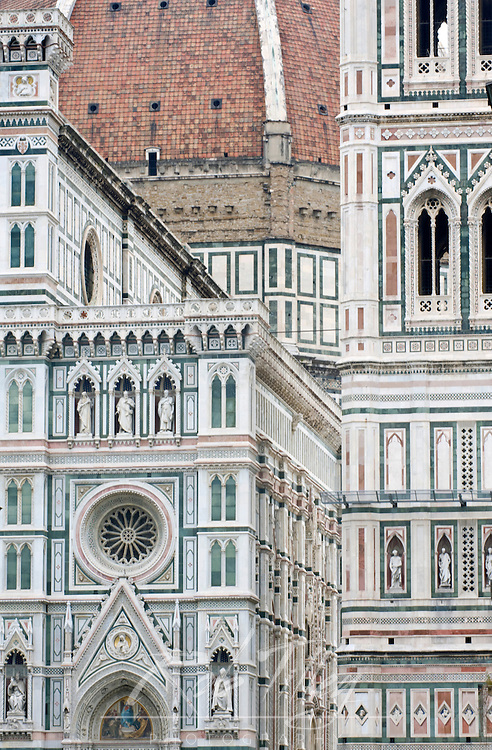 Europe, Italy, Tuscany, Florence, Duomo Detail