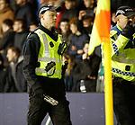20.12.2019 Hibs v Rangers: Police rewmove glass bottle thrown at Borna Barisic