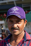 ARCADIA, CA  JUNE 2: Unique Bella's groom wearing his Breeders' Cup hat after she wins the Beholder Mile (Grade l) on June 2, 2018 at Santa Anita Park in Arcadia, CA. (Photo by Casey Phillips/Eclipse Sportswire/Getty Images)