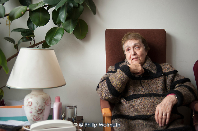 Alicia Nicolas, who has suffered a stroke, is unable to leave her flat unaided and receives regular weekly visits from a volunteer from Age Concern Camden's Good Neighbours Scheme.