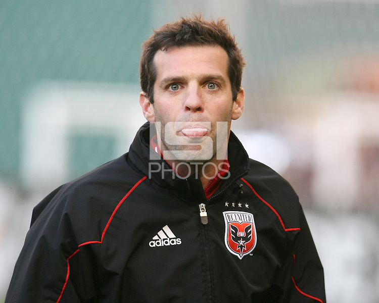 Ben Olsen assistant coach of D.C. United during a US Open Cup match against F.C. Dallas on April 28 2010, at RFK Stadium in Washington D.C. United won 4-2.