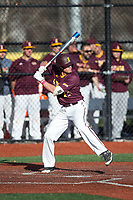 Brian Picone (15) of the Iona Gaels at bat against the Rutgers Scarlet Knights at City Park on March 8, 2017 in New Rochelle, New York.  The Scarlet Knights defeated the Gaels 12-3.  (Brian Westerholt/Four Seam Images)
