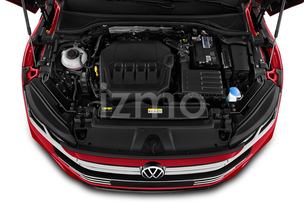Car Stock 2021 Volkswagen Arteon-SB R-Line 5 Door Wagon Engine  high angle detail view
