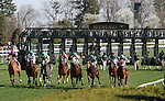 April 13, 2014: Excaper and jockeyJose Lezcano win the 7th race Allowance $66,000 for four year olds and upward at Keeneland Racecourse for owner Richard Kaster and Frederick C. Wieting and trainer Ian Black.  Candice Chavez/ESW/CSM