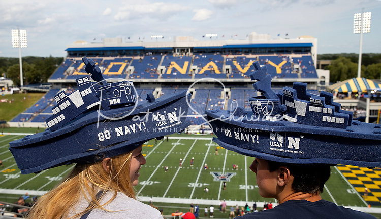 09/11/21: The Navy Midshipmen v. The Air Force Falcons, during their Saturday afternoon  tribute game in recognition of the 20th anniversary of the 9/11 terrorist attacks, at  Navy-Marine Corps Memorial Stadium in Annapolis, Maryland <br /> <br /> Charlotte photographer - Patrick SchneiderPhoto.com