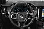 Car pictures of steering wheel view of a 2021 Volvo V90-Recharge R-Design 5 Door Wagon Steering Wheel