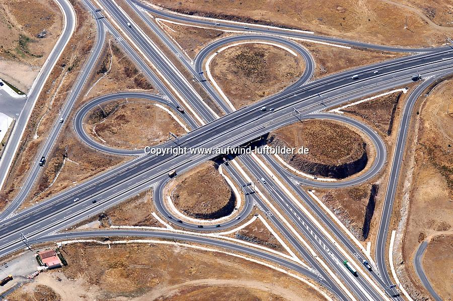 Spanien, Segovia, Autobahn, Verkehr, Verkehrswege, Kreuz, Autobahnkreuz, Verkehrskreuz