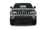 Car photography straight front view of a 2015 Jeep Grand Cherokee Laredo 5 Door SUV