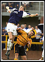 24/8/02         Copyright Pic : James Stewart                     .File Name : stewart-alloa v falkirk 30.LEE MILLER GETS HIGH ABOVE ALLOA'S CRAIG VALENTINE.....James Stewart Photo Agency, 19 Carronlea Drive, Falkirk. FK2 8DN      Vat Reg No. 607 6932 25.Office : +44 (0)1324 570906     .Mobile : + 44 (0)7721 416997.Fax     :  +44 (0)1324 570906.E-mail : jim@jspa.co.uk.If you require further information then contact Jim Stewart on any of the numbers above.........