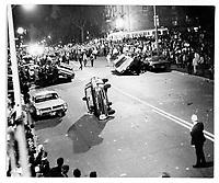 L'emeute de la Saint-Jean-Baptiste du 24 juin 1968.<br /> <br /> 290 personnes sont arretees pour desobeissance civile.  C'est le lundi de la matraque<br /> <br /> PHOTO : Alain Renaud - Agence Quebec presse