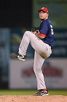 Potomac relief pitcher Eddy Baeza (22) in action versus Winston-Salem at Ernie Shore Field in Winston-Salem, NC, Thursday, August 2, 2007.