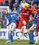 22.09.2019 St Johnstone v Rangers: Stevie May and Filip Helander