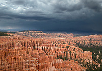 Monsoonal storms pass over Bryce Canyon National Park, Utah