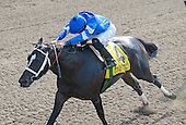 Eddie Castro works It's Tricky to the wire in the Ogden Phipps.