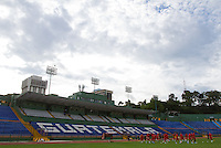 The United States Men's National Team held practice at Estadio Mateo Flores in Guatemala City, Guatemala on Mon. June 11, 2012.  The USA will face Guatemala in a World Cup Qualifier on Tuesday.
