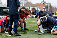 London Scottish practice scrums during the Greene King IPA Championship match between Ealing Trailfinders and London Scottish Football Club at Castle Bar , West Ealing , England  on 19 January 2019. Photo by Carlton Myrie/PRiME Media Images