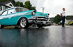 Thomaston, CT- 13 September 2015-091315CM12- Robert Gasparri of Waterbury stands next to his 1957 Chevy during the Thomaston Police Explorers 24th Annual Summer Cruise in Thomaston on Sunday. Proceeds from the event will benefit the Thomaston Police Explorers.    Christopher Massa Republican-American