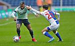 03.10.20 - Blackburn Rovers v Cardiff City - Sky Bet Championship - Leandra Bacuna of Cardiff and John Buckley of Blackburn Rovers