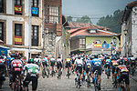 The peloton during Stage 18 of La Vuelta d'Espana 2021, running 162.6km from Salas to Alto del Gamoniteiru, Spain. 2nd September 2021.   <br /> Picture: Unipublic/Charly Lopez   Cyclefile<br /> <br /> All photos usage must carry mandatory copyright credit (© Cyclefile   Charly Lopez/Unipublic)